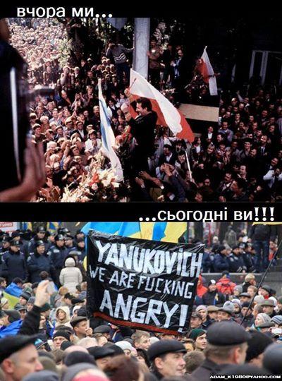 i polskie flagi na majdanie