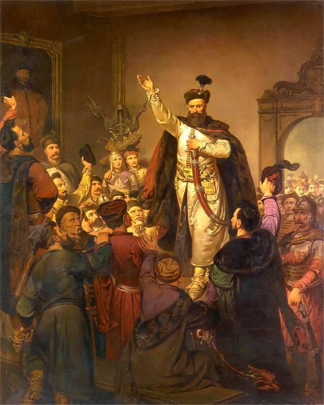 Zawiązanie-konfederacji-tyszowieckiej-obraz-Walerego-Eljasza-Radzikowskiego